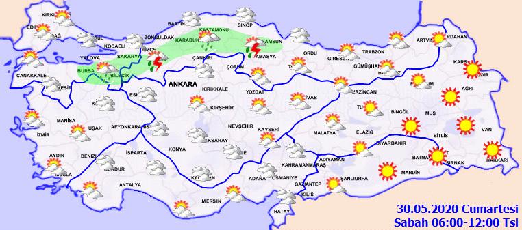 Meteorolojiden o bölgelerimiz için sağanak yağış uyarısı