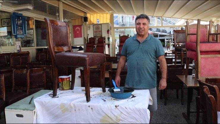 Foça'daki işletmelerde sezona hazırlık sürüyor