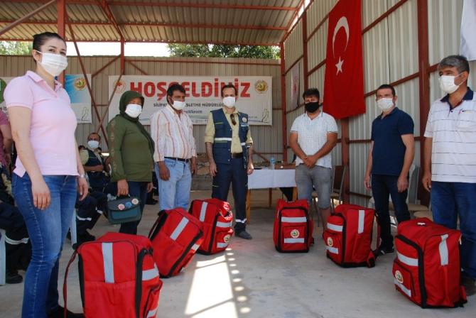 Gönüllü yangıncılar ilk tatbikatlarını yaptı
