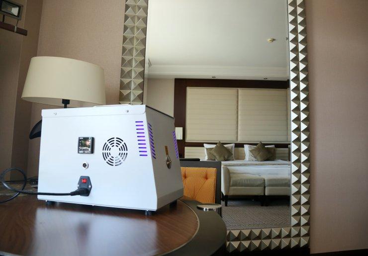 Odalarda dezenfekte süresini 1 saat 15 dakikaya düşüren teknoloji