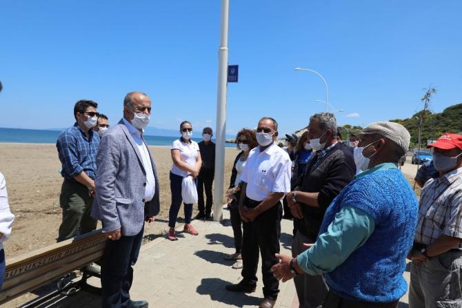 Başkan Türkyılmaz'dan Mudanya sahillerinde inceleme