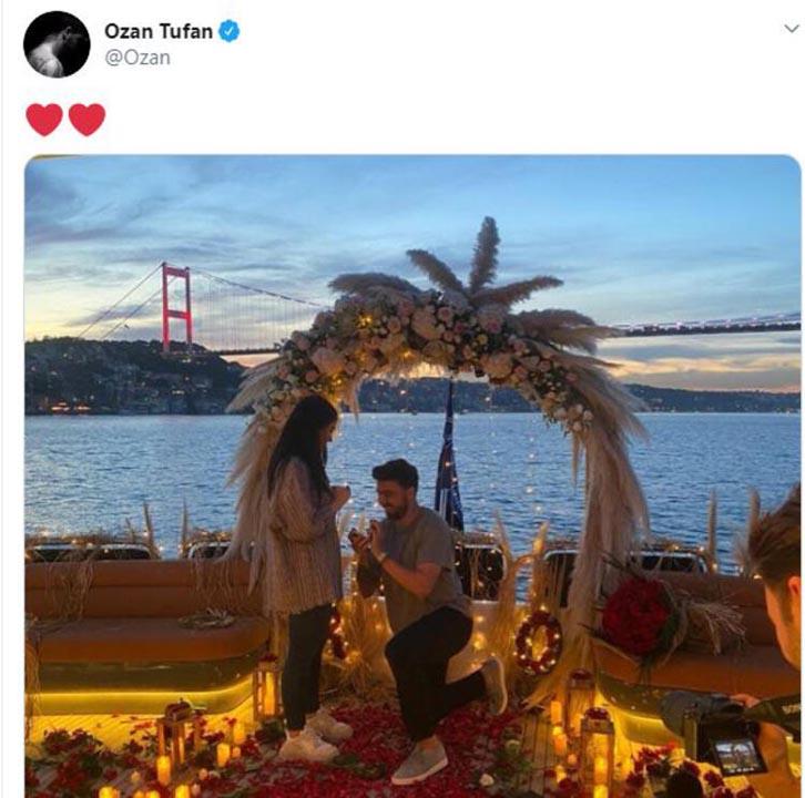 Fenerbahçeli Ozan Tufan'dan romantik evlilik teklifi