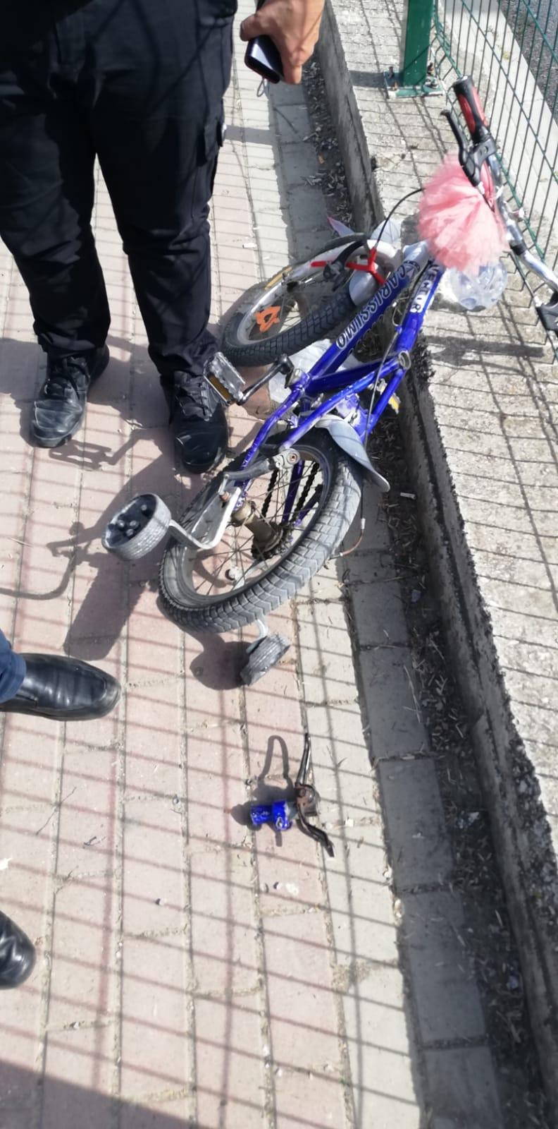 Bursa'da korkunç olay! Bisikletin demiri kalçasına saplandı