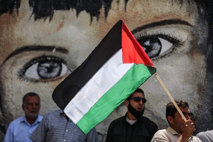 Gazze'de mülteci haklarına destek ve İsrail'in ilhak planını protesto için eylem