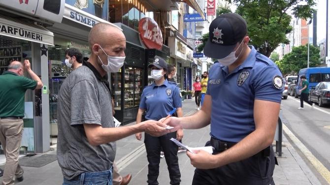 Kırıkkale'de 'maske' denetimi yapıldı: 1 saatte sadece 2 kişiye ceza kesildi