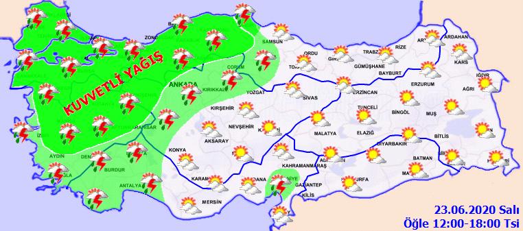 Meteorolojiden 4 bölgemiz için yağış uyarısı