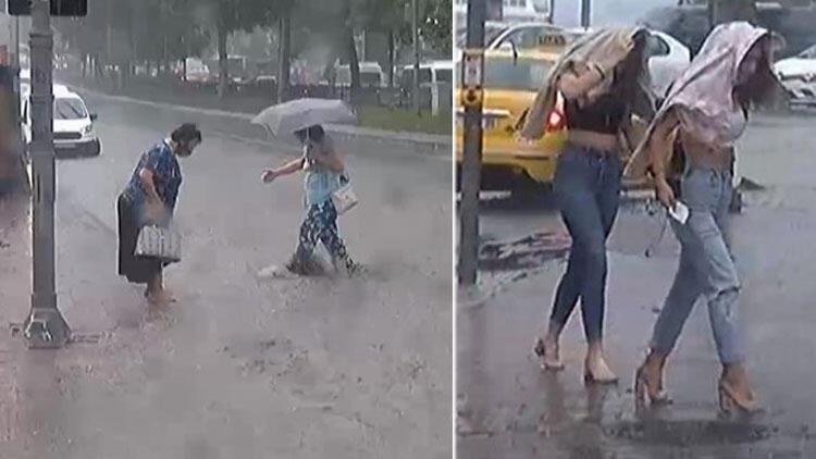 İstanbullular dikkat! Sağanak ve dolu yağışı başladı!