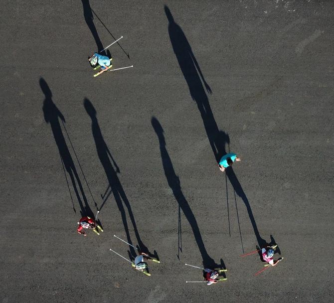 Bitlisli kayakçılar asfaltta şampiyonalara hazırlanıyor