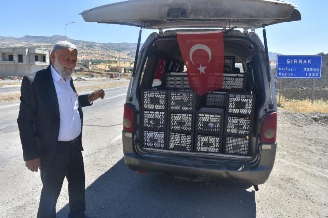 Mehmetçiğe destek için bin 530 kilometre yol kat etti