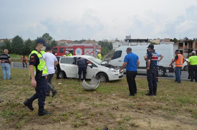 Tekirdağ'da feci kaza: 1 ölü, 8 yaralı