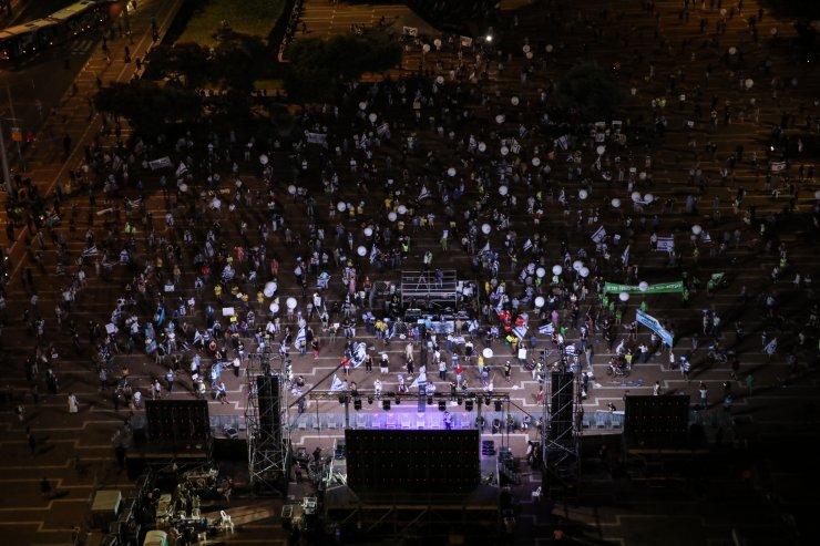 """İsrail'de """"ilhak"""" karşıtı protestolar devam ediyor"""