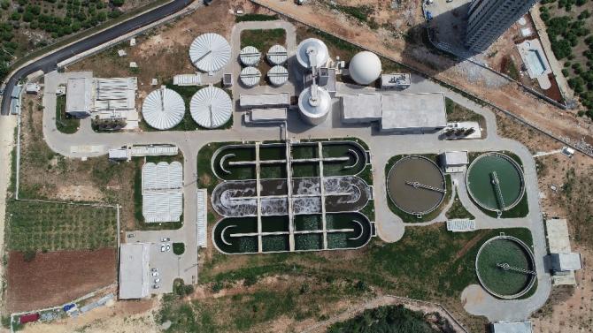Mezitli Atıksu Arıtma Tesisinde 1 yılda 14 milyon 125 metreküp atık su arıtıldı
