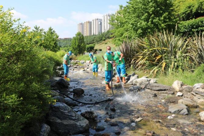 Başakşehir Belediyesi Sular Vadisi yenileniyor