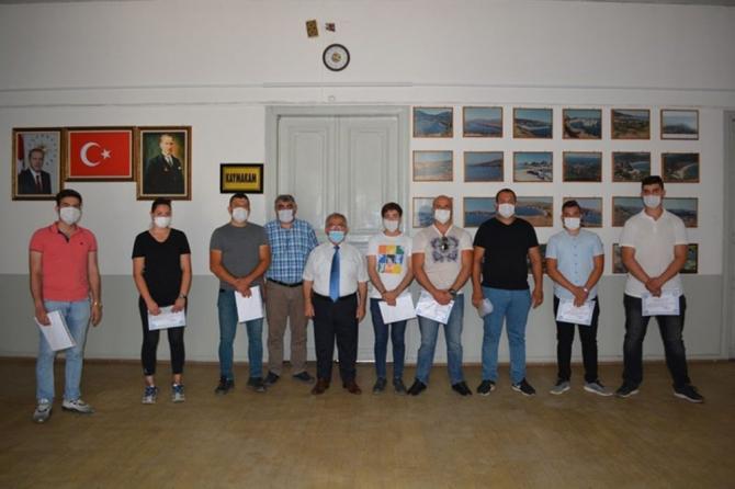 Erdek'te Vefa Grubuna başarı belgesi