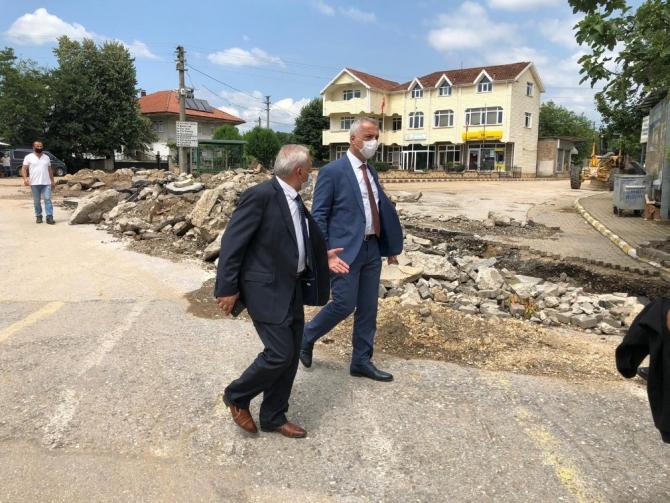 Başkan Babaoğlu, selde zarar gören mahallelerde incelemelerde bulundu