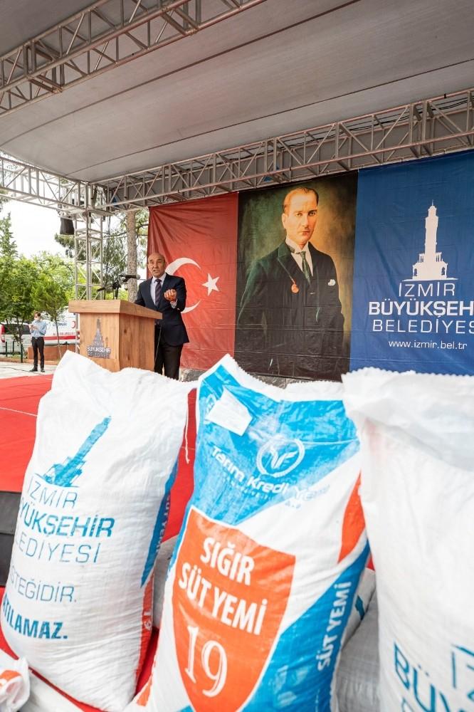 İzmir Büyükşehir Belediyesinden ilk defa yem desteği