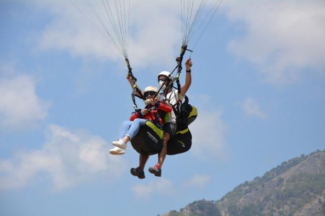 Fethiye'de yamaç paraşütü pilotları üzerinde bilimsel araştırma başlatıldı