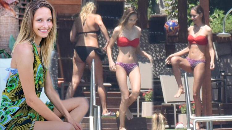 Brezilyalı gelin Jessica May'den plajda şov!