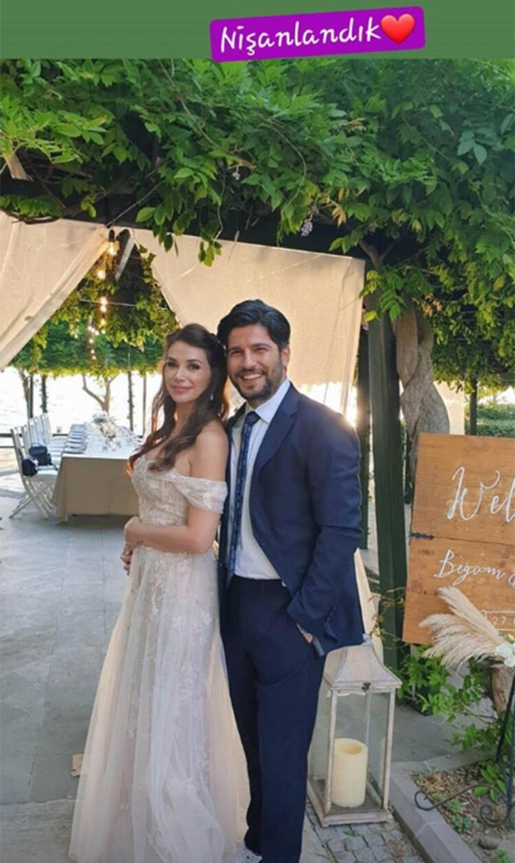 Begüm Birgören ile Mehmet Cemil evliliğe ilk adımı attı!