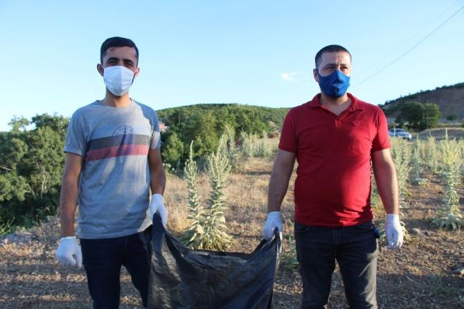 Bingöl'de gönüllü temizlik timi, doğa için seferber oldu
