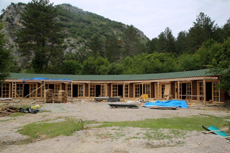 Horma Kanyonu'na yapılan yeni yatırımlar hizmet için gün sayıyor