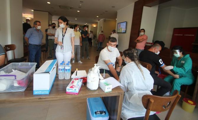 AOSB çalışanlarına antikor testi