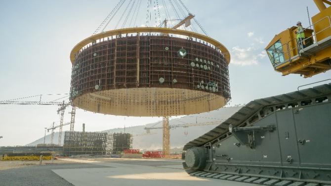 Akkuyu NGS birinci güç ünitesinin ikinci katmanının iç kaplama montajı tamamlandı