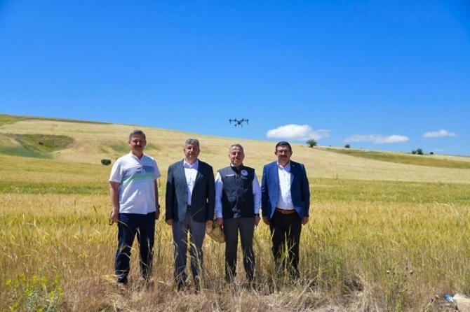 Kayseri'de süne ile mücadele de ilk defa 'Drone' kullanıldı