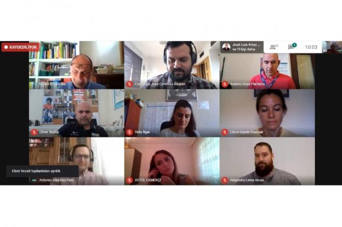 Tek türk ortağı PAÜ olan ESLP'nin son toplantısı online gerçekleşti