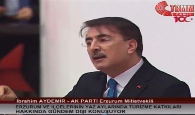 Milletvekili Aydemir TBMM'de Erzurum'u anlattı