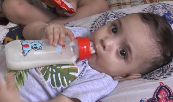 Rüzgar bebek artık doya doya süt içiyor