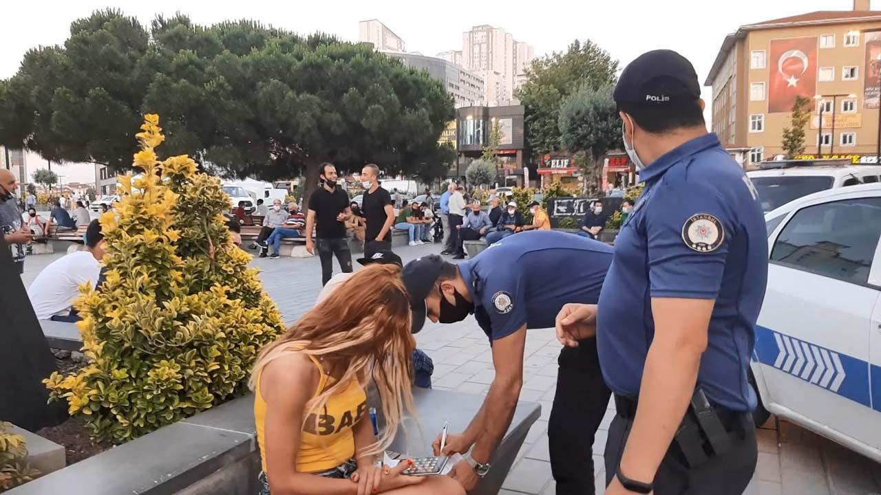 Esenyurt'taki denetimlerde maske takmayan kadın cezadan kaçamadı!