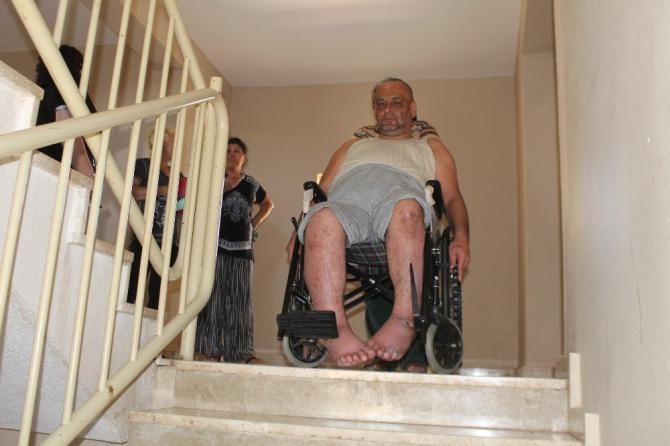 Sosyal konutlarda yaşayanların engelli asansörü çilesi