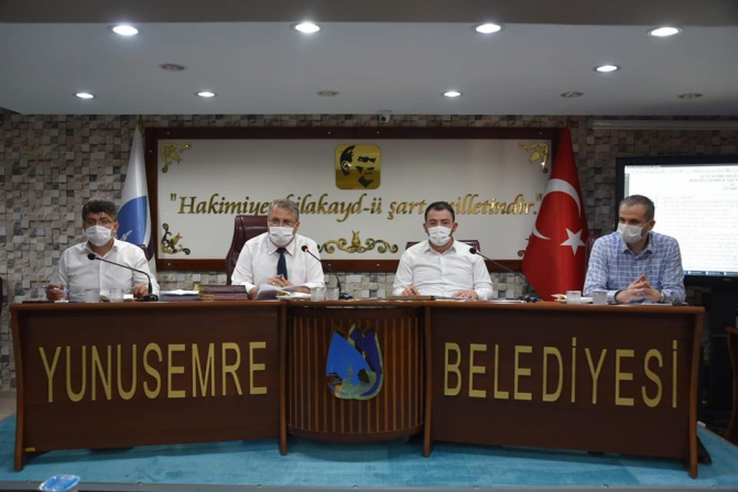 Yunusemre Belediye Meclisi 3 aylık aranın ardından toplandı