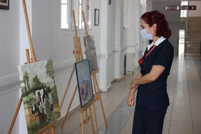 ADÜ hastane duvarları sanatla buluşuyor