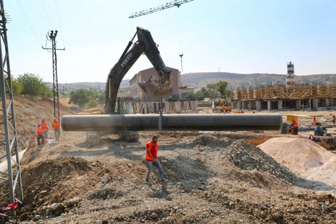 Elazığ'da su ana terfi hattında çalışma