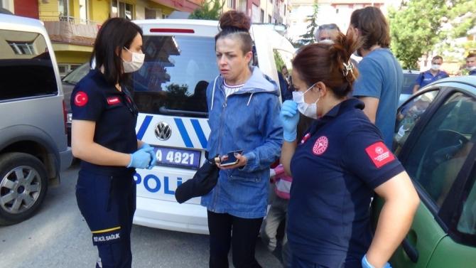 Eşi tarafından boğularak öldürülmek istenen kadını polis kurtardı