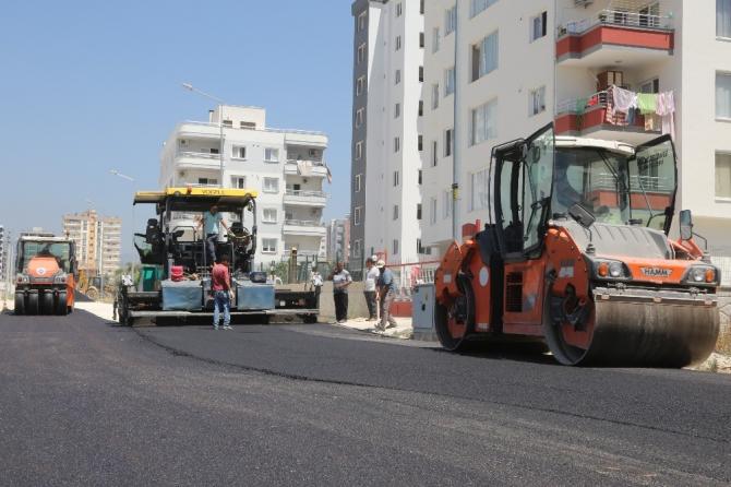 Erdemli'de asfalt çalışmaları hızlandı