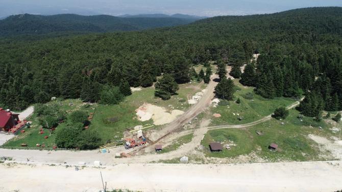 Uludağ'da altyapı çalışması için 1500 ağaç kesildi, tartışma başladı