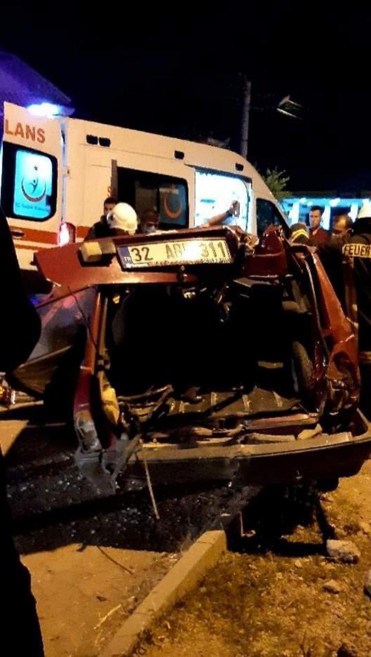 Isparta'da kaza: 1 ölü, 3 yaralı
