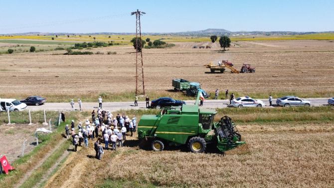 Kırklareli'de hasat etkinliği
