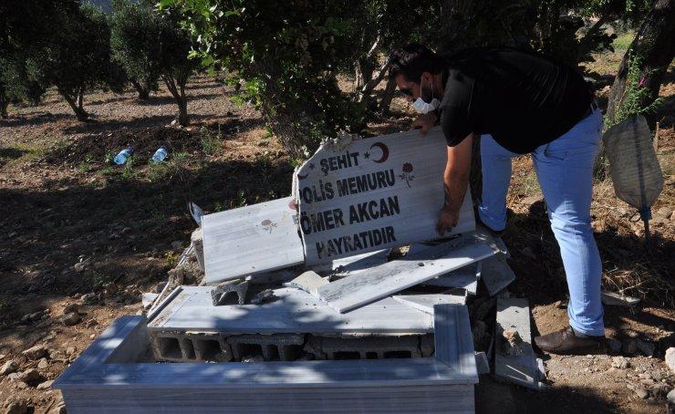 Şehit polis memuru adına yapılan çeşmeyi tahrip ettiler