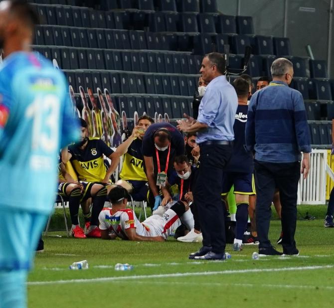 Süper Lig: Fenerbahçe: 2- Göztepe: 0 (İlk yarı)