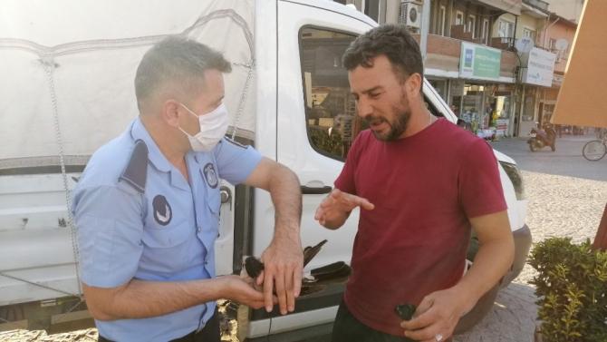 Yaralı kuşa Sındırgı Belediyesi sahip çıktı