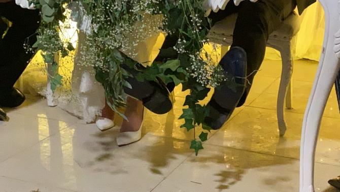 Düğünde damadın zor anları