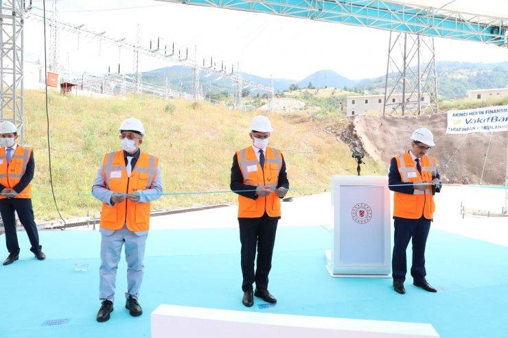 Tokat'ta Akıncı HES açılışı, Bakan Dönmez'in katılımıyla yapıldı