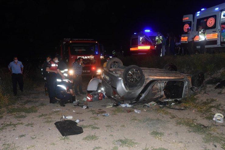 Nişan dönüşü kaza: 1 ölü, 5 yaralı