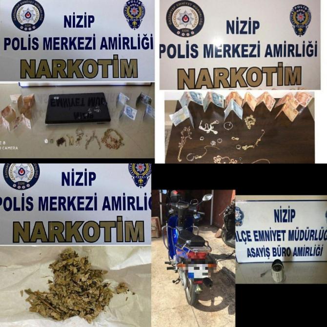 Gaziantep'te aranan 107 şüpheli şahıs yakalandı