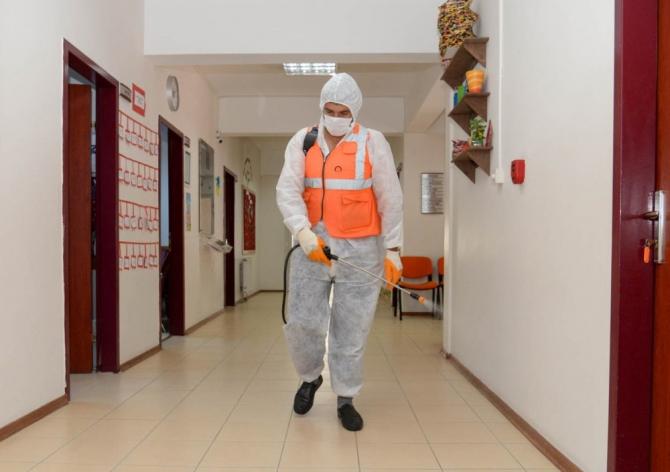 Gençlik merkezleri dezenfekte edildi