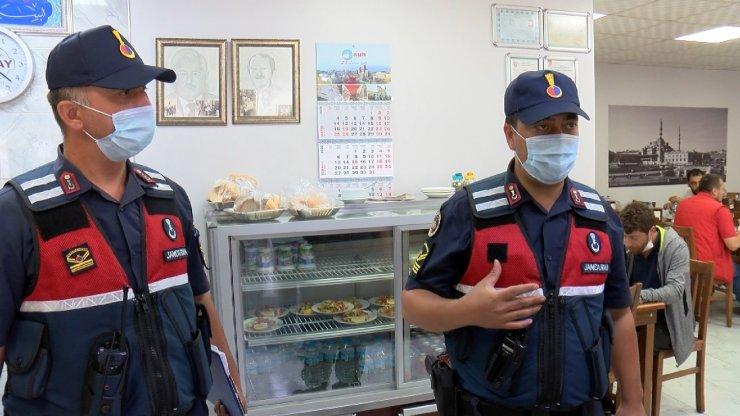Jandarmadan işletmelere koronavirüs denetimi
